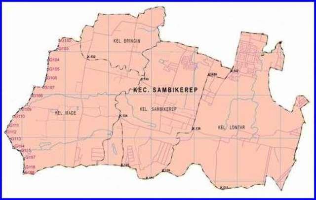 Peta Kecamatan Sambikerep Surabaya Barat - Lokanesia